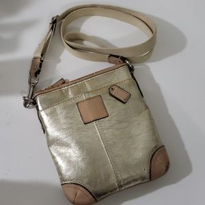 Coach Swingpack Metallic Tan